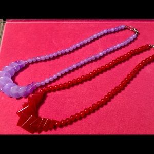 Red and Purple Necklaces (Bundle)